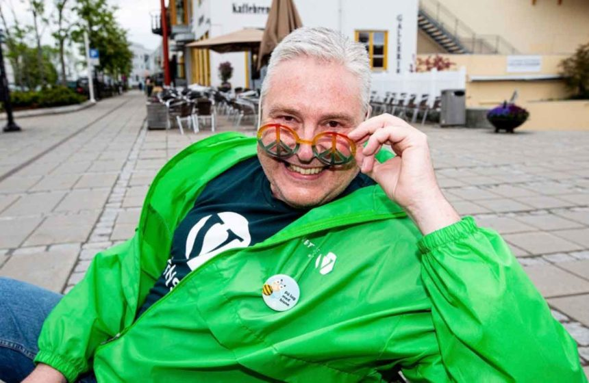 Stein Vegar Leidal – pride-pappa og initiativtaker til Jessheim Pride. Foto: Tom Gustavsen/Romerikes Blad.